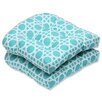Pillow Perfect Kane Outdoor Dining Chair Cushion (Set of 2)