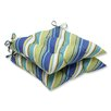 Pillow Perfect Browning Sunblue Outdoor Dining Chair Cushion (Set of 2)