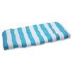 Pillow Perfect Cabana Stripe Outdoor Loveseat Cushion