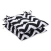 Pillow Perfect Chevron Outdoor Dining Chair Cushion (Set of 2)