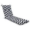 Pillow Perfect Chevron Outdoor Chaise Lounge Cushion