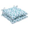Pillow Perfect New Geo Outdoor Dining Chair Cushion (Set of 2)