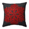 Pillow Perfect Single Snowflake 100% Felt Throw Pillow