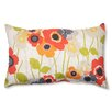 Pillow Perfect Pic-A-Poppy Cotton Lumbar  Pillow