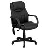 Flash Furniture High-Back Leather Executive Swivel Massaging Office Chair with Headrest