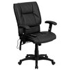 Flash Furniture High-Back Leather Massaging Executive Chair