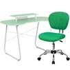 Flash Furniture Computer Desk with Monitor Stand & Mesh Chair