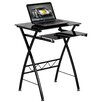 Flash Furniture Computer Desk with Pull Out Keyboard in Black