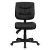 Flash Furniture Personalized Mid-Back Leather Multi-Functional Task Chair