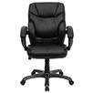 Flash Furniture Mid-Back Leather Executive Chair