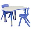 Flash Furniture 3 Piece Kidney Activity Table