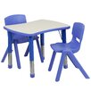 Flash Furniture 3 Piece Rectangular Activity Table