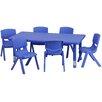 Flash Furniture 7 Piece Rectangular Activity Table