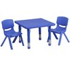 Flash Furniture 3 Piece Square Activity Table & Chair Set