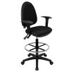 Flash Furniture Height Adjustable Drafting Stool with Lumbar Support (Set of 2)