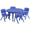 Flash Furniture 5 Piece Round Activity Table & Chair Set