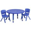 Flash Furniture 3 Piece Round Activity Table & Chair Set