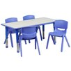 Flash Furniture 5 Piece Rectangular Activity Table