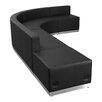 Flash Furniture Hercules Alon 5 Piece Leather Reception Configuration Set