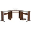 Flash Furniture Corner Desk with Pull-Out Keyboard Tray and CPU Cart
