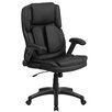Flash Furniture Extreme Comfort High Back Leather Executive Swivel Chair with Flip-Up Arms