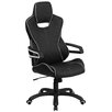 Flash Furniture High Back Vinyl Executive Swivel Chair with White Trim