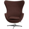 Flash Furniture Wool Fabric with Tilt-Lock Mechanism Lounge Chair