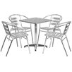 Flash Furniture 5 Piece Joanna Square Patio Seating Group
