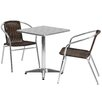 Flash Furniture Square 3 Piece Dining Set