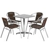 Flash Furniture Square 5 Piece Dining Set