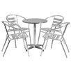 Flash Furniture 5-Piece Joanna Round Patio Seating Group