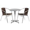 Flash Furniture Round 3 Piece Bistro Dining Set