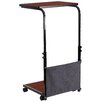Flash Furniture Height Adjustable Desk with Wheels