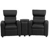 Flash Furniture Kids Leather Recliner with Storage Compartment and Cup Holder