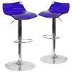 Flash Furniture Adjustable Height Swivel Bar Stool (Set of 2)