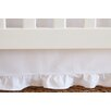 Oliver B Pure White Gathered Crib Skirt