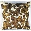 Design Accents LLC Lurex Floral Linen Throw Pillow