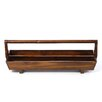 Antique Revival Distressed Double Tray with Wooden Handle