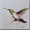 Antique Revival Hummingbird Flight Framed Painting Print