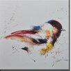 Antique Revival Bird Framed Painting Print