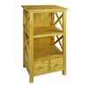 "Antique Revival Crosshatch 34.25"" Standard Bookcase"