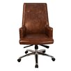 Antique Revival Lincoln High-Back Office Chair with Arms