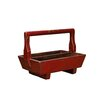 Antique Revival Half-Sized Double Tray with Wooden Handle