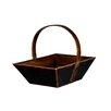 Antique Revival Tangerine Fruit Basket with Handle