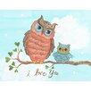 "The Little Acorn Baby Owls ""I Love You"" Canvas Art"