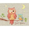 The Little Acorn Baby Owls Sweet Dreams Canvas Art