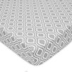 American Baby Company Percale Gray Ogee Fitted Crib Sheet