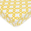American Baby Company Heavenly Soft Chenille Golden Yellow Twill Gotcha Fitted Crib Sheet
