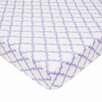 American Baby Company Percale Lavendar Moroccan Fitted Crib Sheet