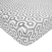 American Baby Company Heavenly Soft Chenille Gray Honeycomb Fitted Crib Sheet